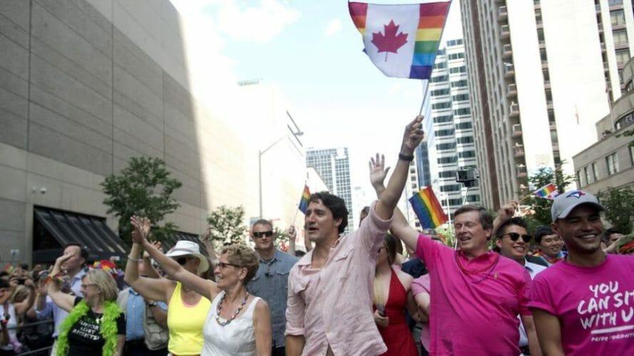 трюдо гей парад