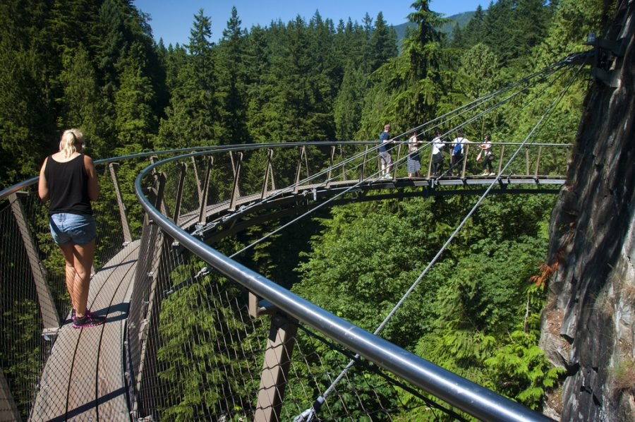 Где сделать красивые фотографии в Ванкувере? Капилано мост