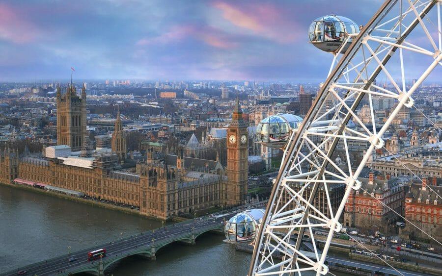 Перелет из Канады в Лондон.Туризм. Красота London Eye
