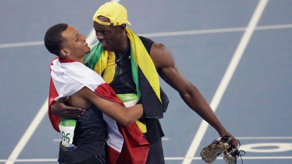 Первая мужская медаль Канады на Олимпиаде в Рио 2016, Усейн Болт и Андре Де Грассе