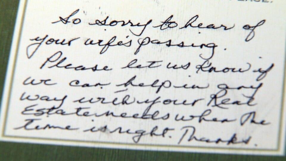 Семья из Ванкувера шокирована деловым письмом с соболезнованиями, полученным от некоторых риелторов.