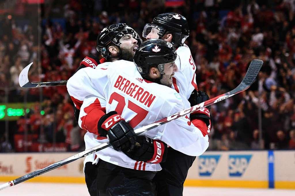 Патрис Бержерон реализовал численное преимущество. Канада выиграла кубок мира по хоккею