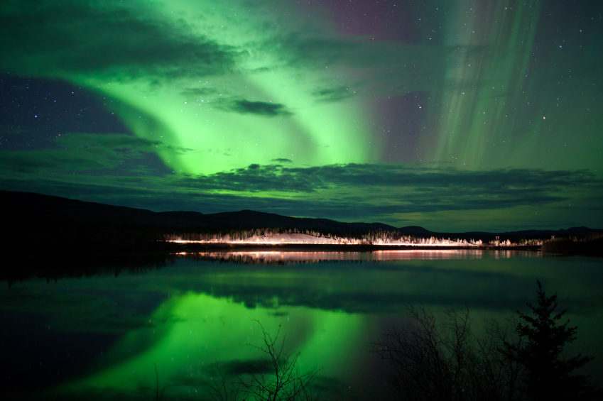 Северное сияние Юкон, Канада