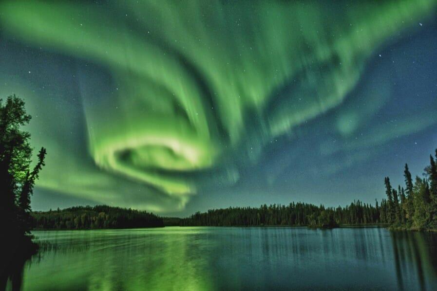 Северное сияние в Канаде. La Ronge, Saskatchewan