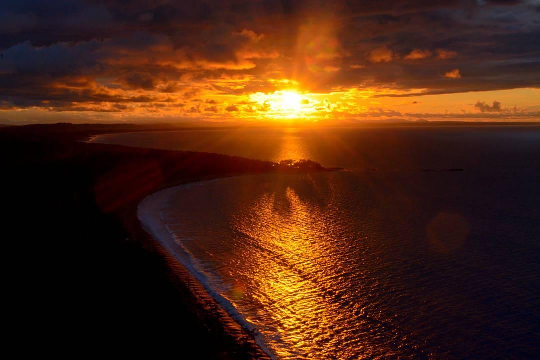 закаты в Канаде, закат на острове, Хайда-Гуаи - это,путешествия по Британской Колумбии, что посмотреть в Канаде
