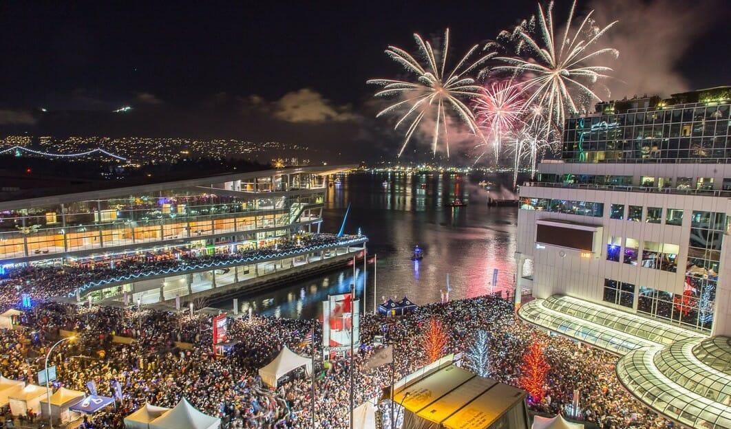 салют в Ванкувере на Новый год, новости Ванкувера