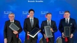 ЕС и Канада подписали соглашение о свободной торговле, Трюдо, Европейский союз, Экономика Канады