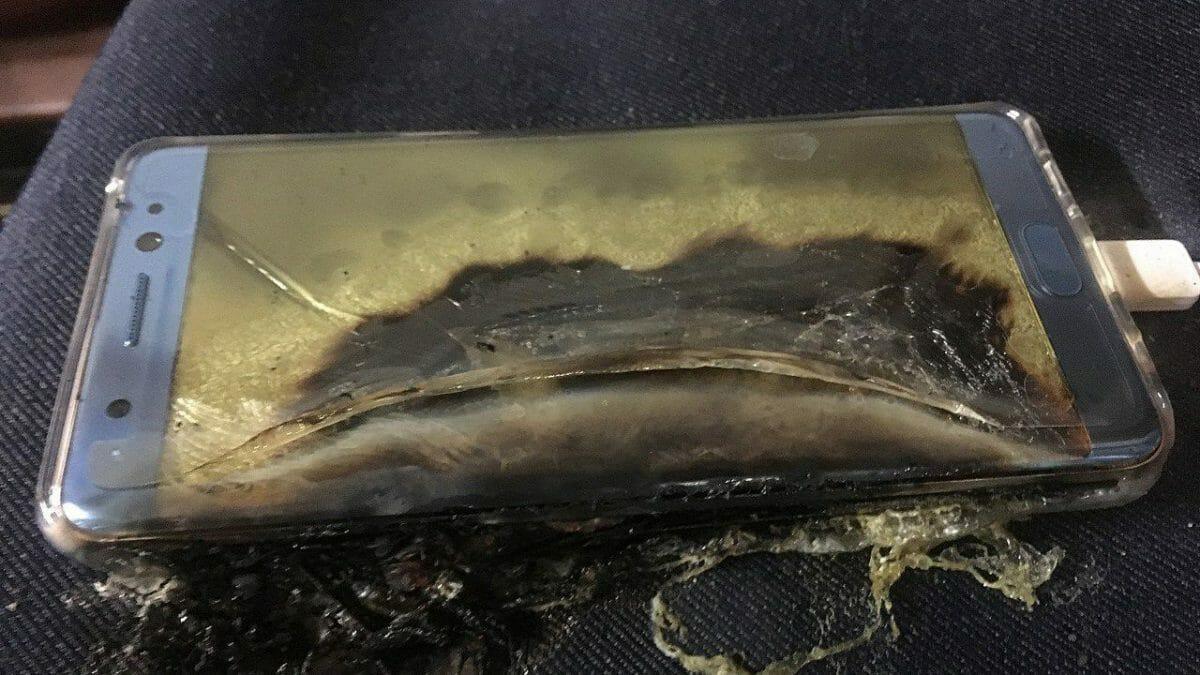 Samsung Galaxy Note 7 после взрыва