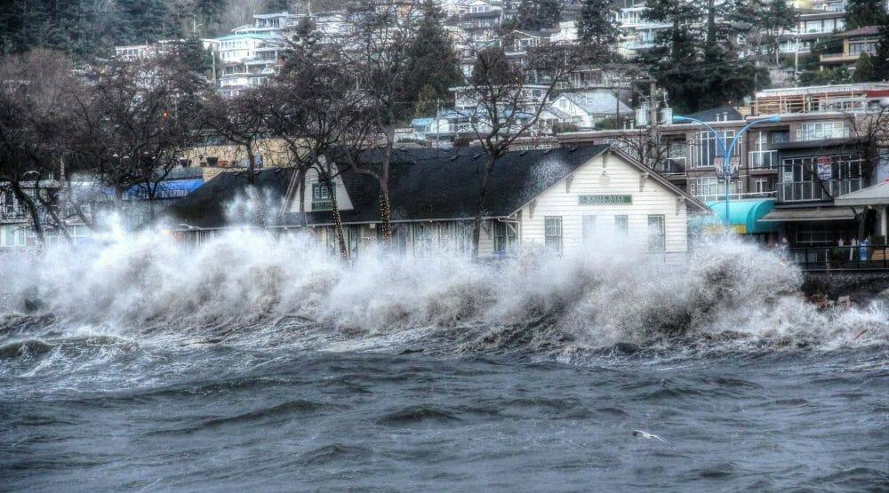 Буря в Ванкувере, шторм в Ванкувере, октябрь 2016