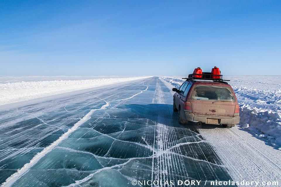 Туктояутук Юкон, ледяная дорога, лед,