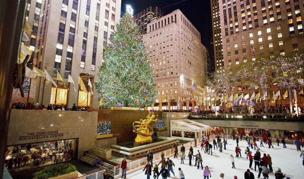 Нью-Йорк, новогодняя Елка, Ванкувер Канада, елка в Ванкувере
