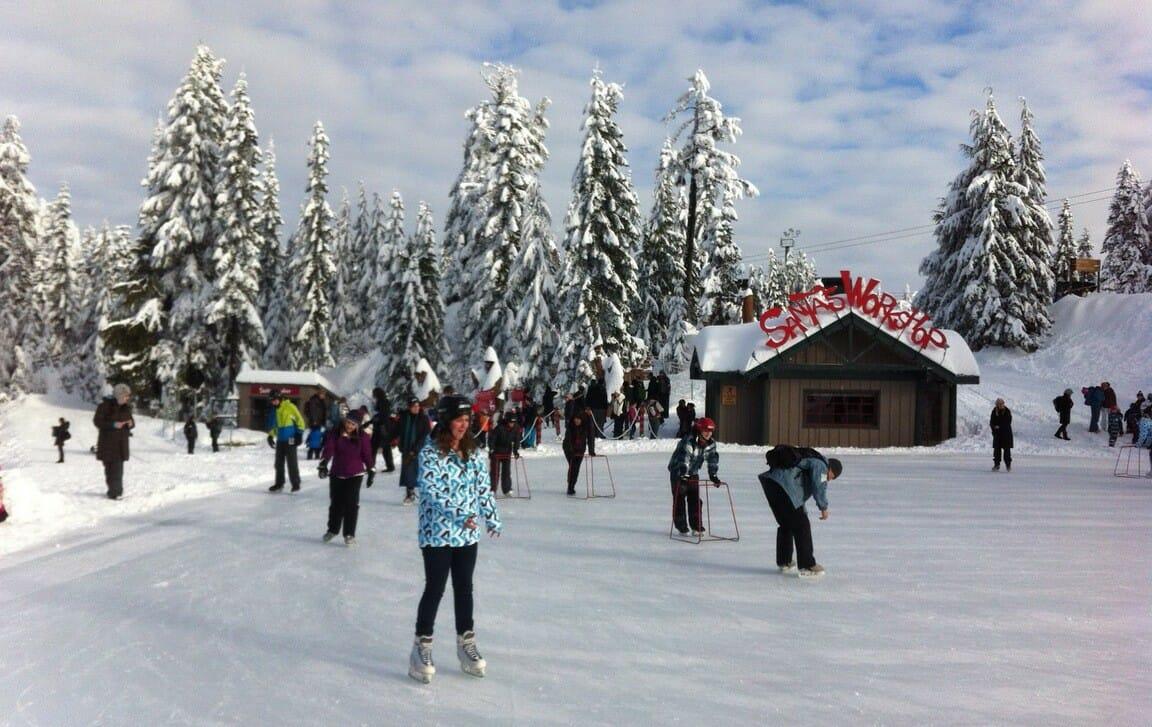 The Peak of Christmas, Ванкувер гора Граус,коньки, каток в Ванкувере
