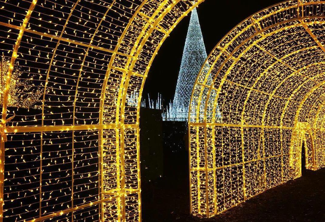 световой лабиринт Ванкувер, рождественский лабиринт света в Ванкувере