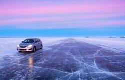 tuktoyaktuk road canada, ледяная дорога в Канаде , зимние приключения