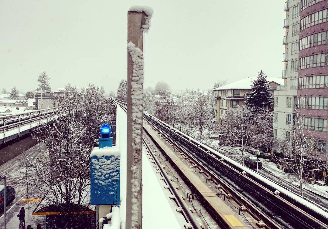 первый снег, снег Ванкувер