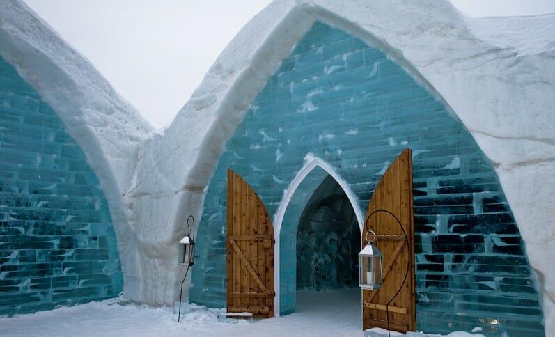 ледяной отель, самые необычные отели мира