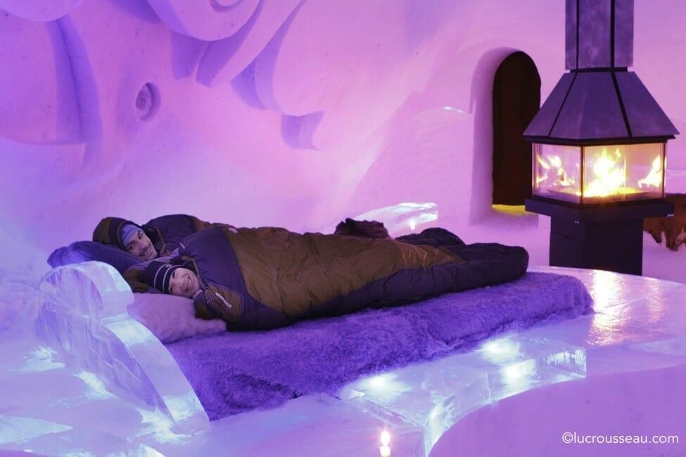 самые необычные отели мира, ледяной отель в Канаде, номер изо льда