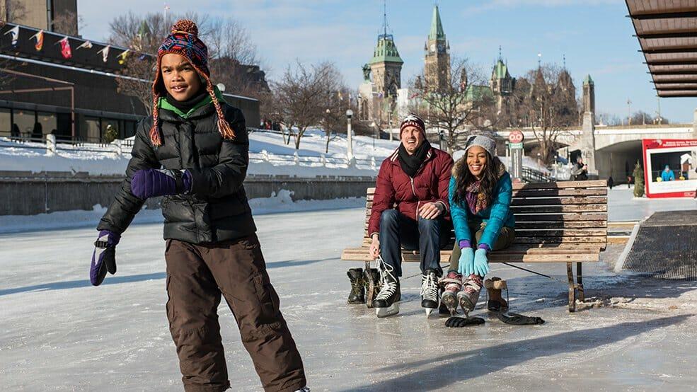 каток Ридо, Оттава Канада, Rideau Canal Skateway