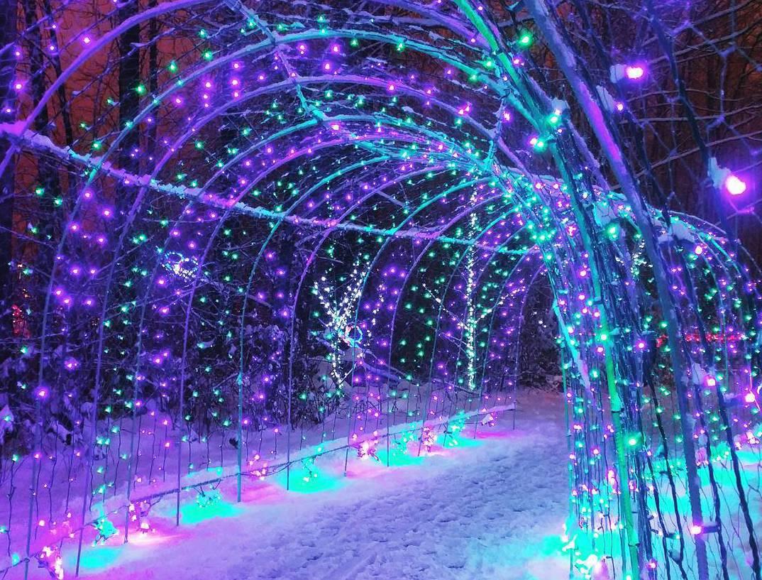 рождественские огни, Ванкувер Канада, озеро Лафардж