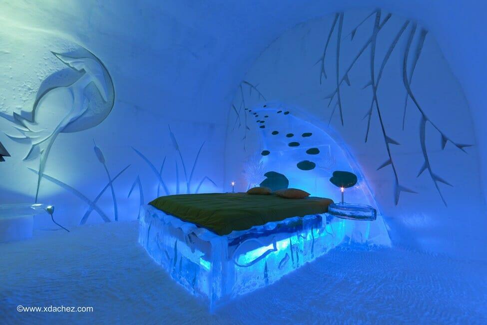 отель из льда, ледяной отель, лучшие отели мира, ледяная кровать