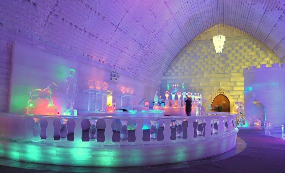 Hôtel de Glace Квебек, ледяной отель в Канаде, необычные отели в мире