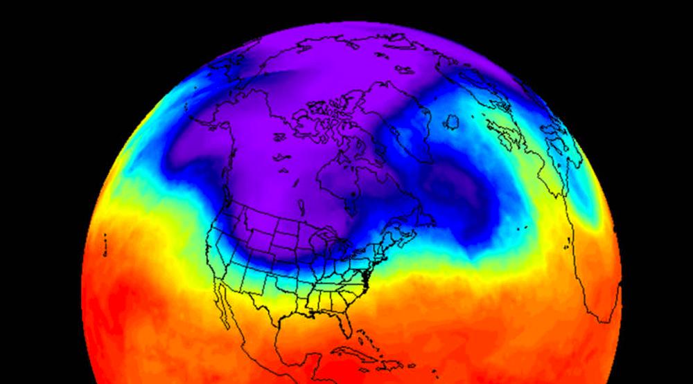 рекордно холодный декабрь в Канаде, 2016, NASA, ДОКЛАД