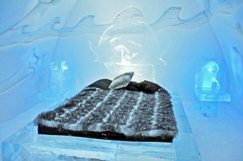 Hôtel de Glace, отель из льда, ледяной отель, Канада Квебек