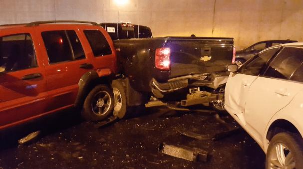 авария в Канаде, 40 машин