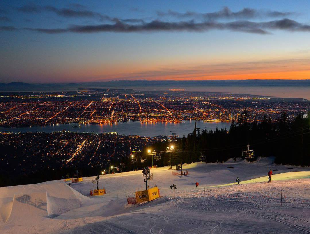 Grouse mountaine view, фото Ванкувера, Гора Граус
