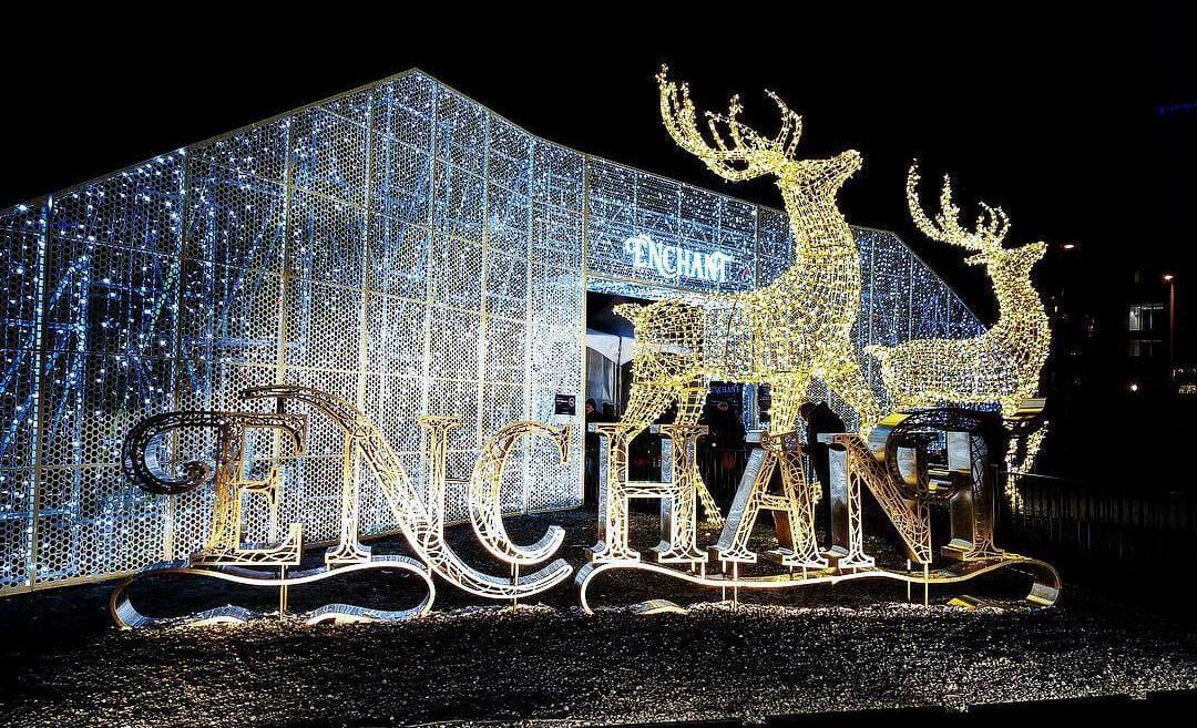 рождественский лабиринт Ванкувер,enchante vancouver,фотографии Ванкувер