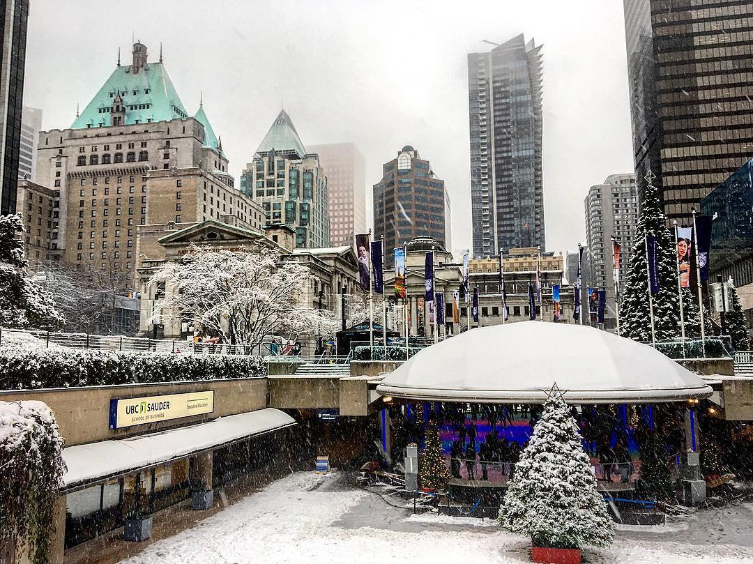 снег в Ванкувере, зима в Ванкувере, фотографии Ванкувера Канада