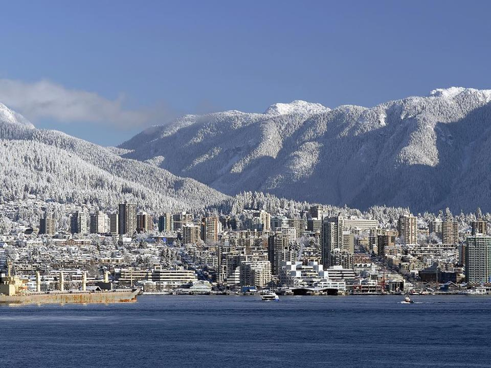 Ванкувер снег, snowy Vancouver, vancity, красивый Ванкувер, Ванкувер зимой