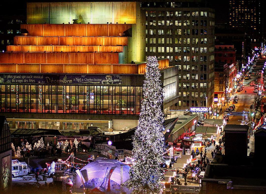 елка в Монреале, рождество Канада, главные елки страны