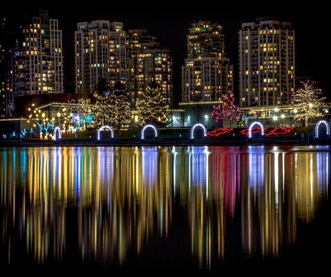 Ванкувер Рождество, озеро Лафардж, рождественские огни