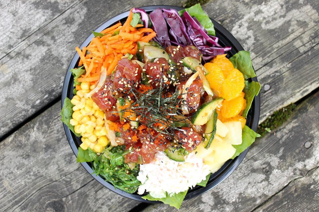 Poke Bowls Vancouver, еда в Ванкувере, азиатская еда Ванкувер,