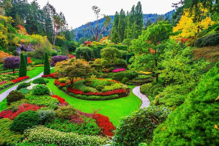 запрет на селфи палку, сады Бутчартов, Канада 150 лет,Виктория