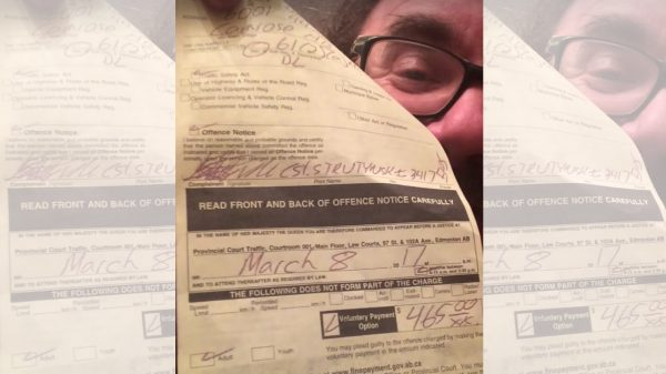 штраф Канада, $465, Эдмонтон, надорванные права