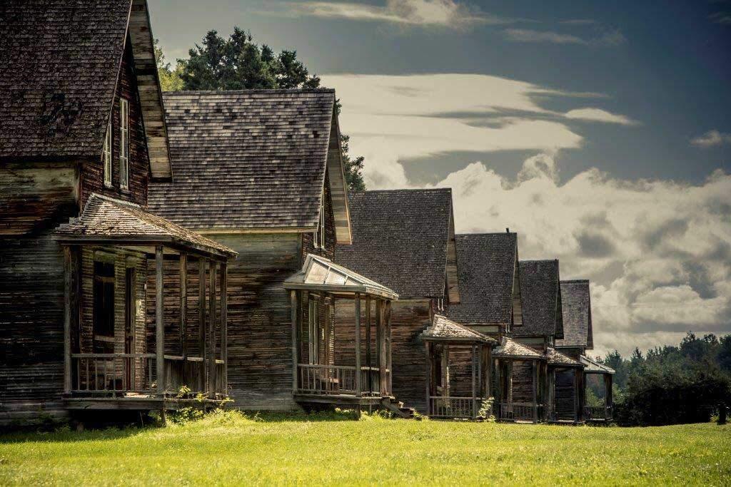 валь-жальбер, город призрак в Канаде, Квебек
