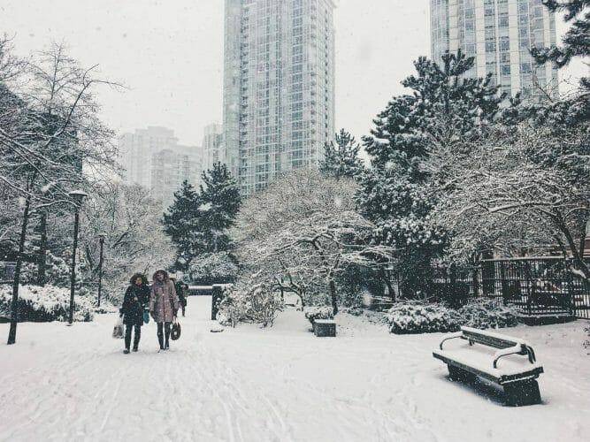 снег в Ванкувере,snow Vancouver