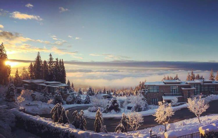 снег в Ванкувере, рекорд, снегопад, Канада