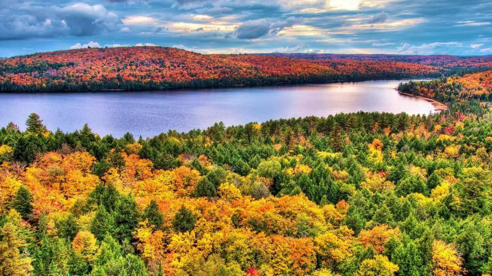 национальный парк, Канада, красиво, осень, стоит увидеть