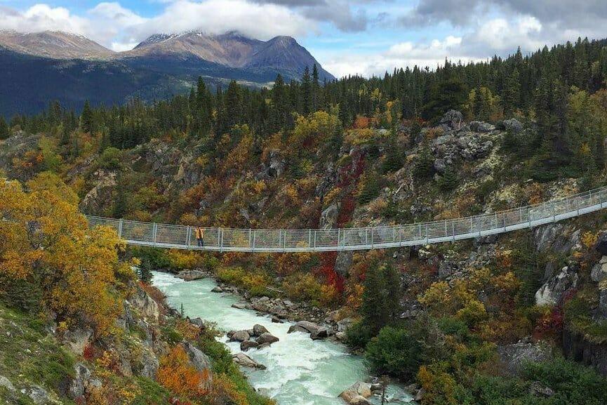 висячий мост в Юконе, Канада