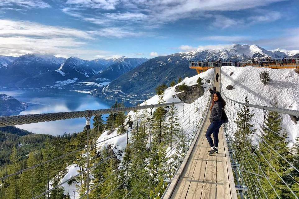 висячий мост Sky Pilot at Sea to Sky Gondola, Канада
