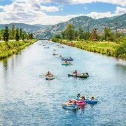 река для тюбинга недалеко от Ванкувера
