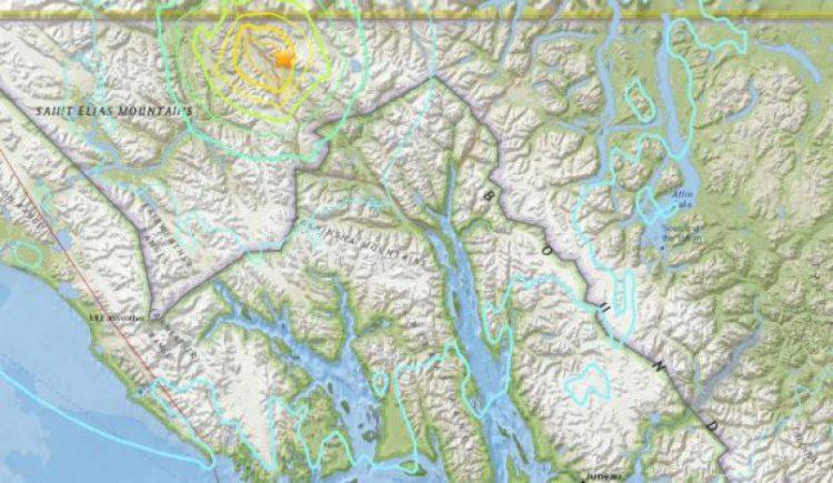 землетрясение в Канаде