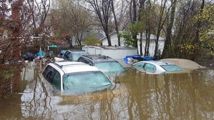 затопленные автомобили Канада