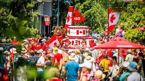 парад к 150 летию Канады