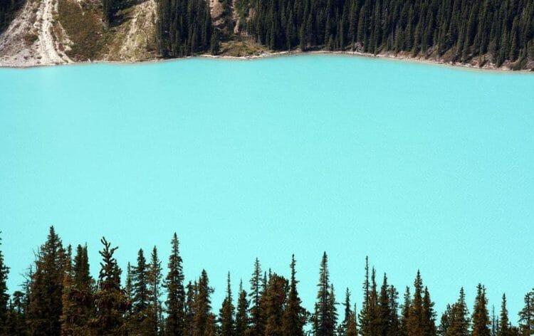 озера Канады, озера с бирюзовой водой