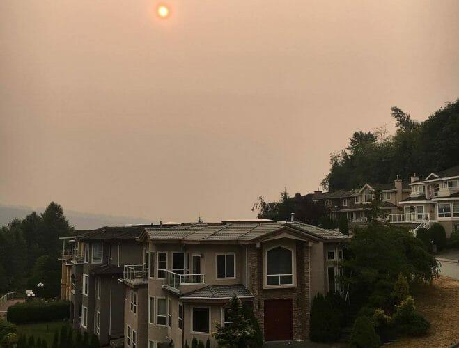 фото смог в Ванкувере