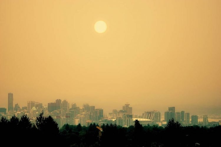 лесные пожары Ванкувер